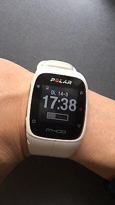 Polar M400 GPS Laufuhr, gebraucht, weiss
