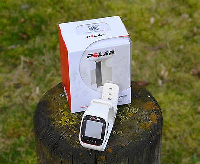 Polar M400 weiß inkl. Brustgurt Herzfrequenz Sensor H7 Pulsuhr Tracker