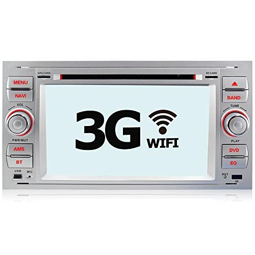 A-Sure Autoradio DVD GPS 3G WIFI NAVI Bluetooth für FORD FOCUS C-MAX S-MAX FIESTA TRANSIT KUGA