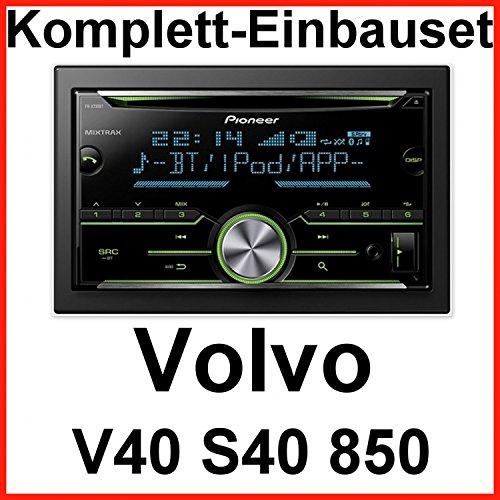 Komplett-Set Volvo S40 V40 850 Pioneer FH-X730BT Autoradio mit USB MP3 AUX und Bluetooth Freisprecheinrichtung