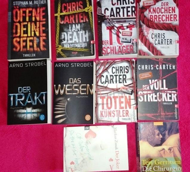 10 Bücher als Paket -  Thriller von Chris Carter, Arno Strobel etc.