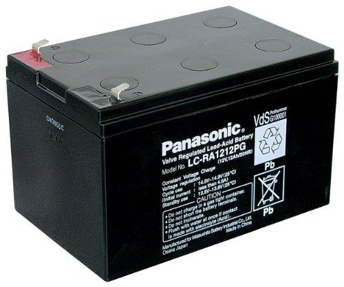 Panasonic LC RA1212PG Blei Akku (187 Faston, 4,8mm)