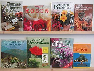 37 Bücher Blumen Pflanzen Zimmerpflanzen Grünpflanzen Bonsai Sukkulenten