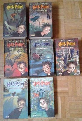 Harry Potter Bücher von Joanne K. Rowling 7 Stück
