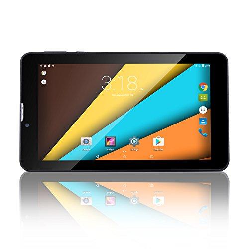 BM Tablet PC 7 Zoll 3G Telefonanruf Quad Core 8GB ROM 1GB RAM Android 5.1 Lollipop 1024x600 Auflösung WiFi GPS Bluetooth (Schwarz)