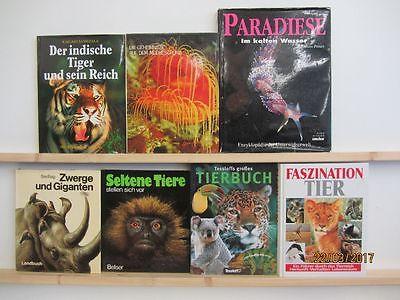 21 Bücher Bildbände Tiere Tierbildbände Säugetiere Fische Meerestiere