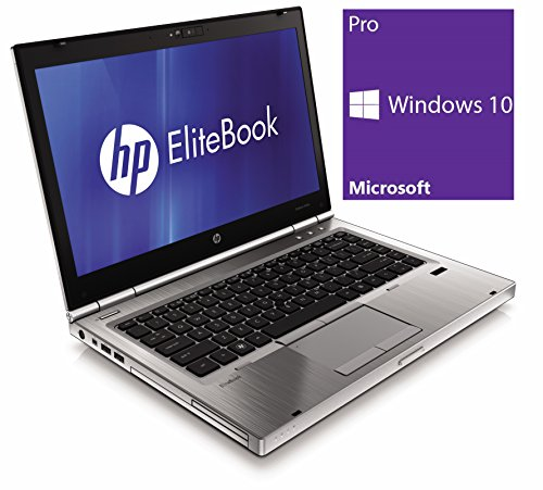 HP Elitebook 8460p Notebook | 14 Zoll Display | Intel Core i5-2520M @ 2,5 GHz | 4GB DDR3 RAM | 500GB HDD | DVD-ROM | Windows 10 Pro vorinstalliert (Zertifiziert und Generalüberholt)