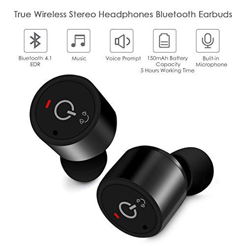Mini Bluetooth Kopfhörer, ELEGIANT Sport Absolut drahtlose Bluetooth Earbuds Headphones mit Dual Nutzung Zwei Ohren Zwillinge Stereo Noise Canceling In-Ear Ohrhörer Headsets mit Mikrofon Freisprecheinrichtung Car Kit für iPhone 6 6S Plus Galaxy S5 S6 und
