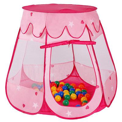 Spielzelt Kinderzelt Bällebad Spielhaus Babyzelt Prinzessinzelt 100 Bälle