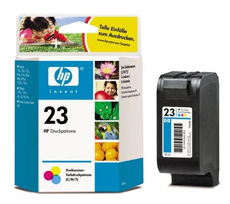 HP C1823DE Tintenpatrone Nr. 23 mehrfarbig (620 Seiten)