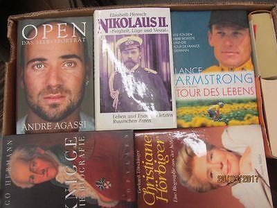 33 Bücher Biografie Biographie Memoiren Autobiografie Lebenserinnerung Paket 1