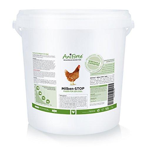 AniForte Milben-Stop Puder 2 kg inkl. Puderflasche - Naturprodukt für Hühner