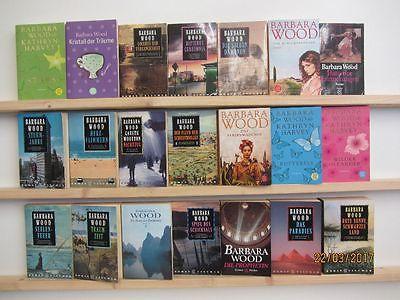 Barbara Wood 21 Taschenbücher Romane historische Romane Liebesromane
