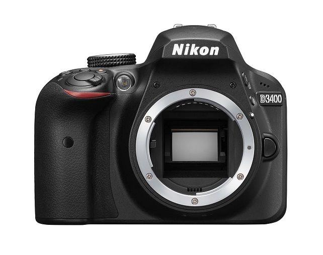 Spiegelreflexkamera Nikon D3400 (24,2 MP) DSLR, NUR GEHÄUSE (body), refurbished