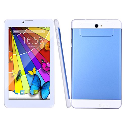 BM 7 Zoll Tablet PC 3G Telefonanruf Quad Core 1GB RAM 8GB ROM Android 5.1 Lollipop 1024x600 Auflösung WiFi GPS Bluetooth(Blau)