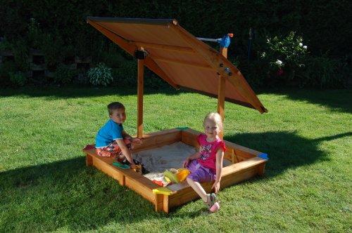 GASPO Sandkasten Mickey ll mit schwenkbaren Dach / Sonnendach