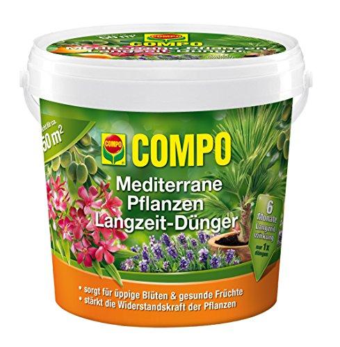 COMPO Mediterrane Pflanzen Langzeit-Dünger, hochwertiger Spezial-Langzeitdünger, reich an Spurenelementen, 1,5 kg