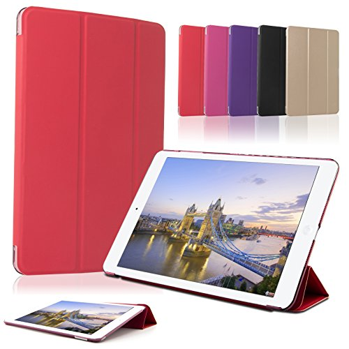 SAVFY [Verbesserte Version] iPad mini 4 Hülle Gold Auto Sleep / Wake up Funktion Smart Cover-rot