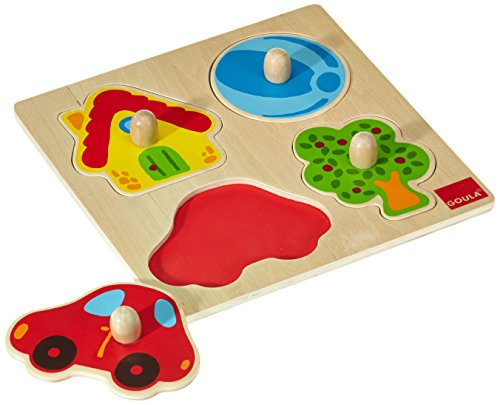 Jumbo D53015 - Holzpuzzle Zu Hause, 4 Teile