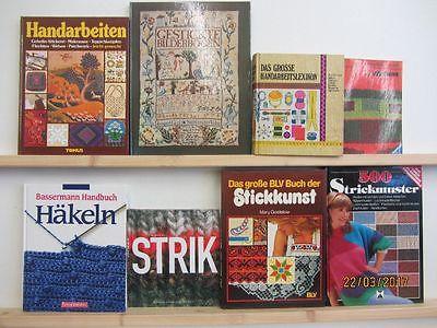 28 Bücher Handarbeiten Sticken Stricken Nähen Häkeln