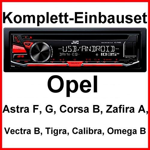 Komplett-Set Opel Astra F G Corsa B Zafira A KD-R482 Autoradio USB FLAC CD MP3