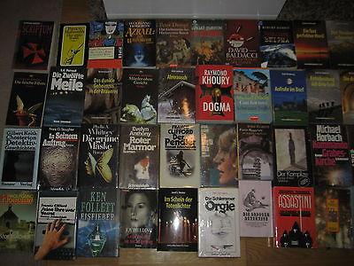 Büchersammlung 40 Stk. Romane Bücherpaket Spannung nur Thriller Krimi Konvolut