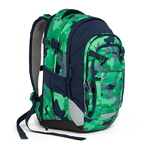 Satch Schulrucksack Match Green Camou 9D8 grün grau camouflage