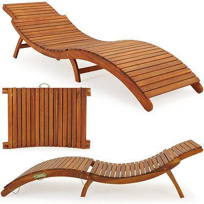 Sonnenliege Gartenliege Liegestuhl Saunaliege Gartenmöbel Holzliege Liege