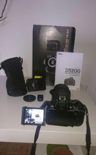 Nikon D5200 24.1 MP SLR-Digitalkamera - Schwarz (Kit mit AF-S DX 18-105 mm...