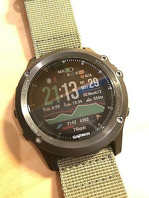 Garmin Fenix 3 HR Sapphire Edition, Grau, OVP mit 3 Armbändern