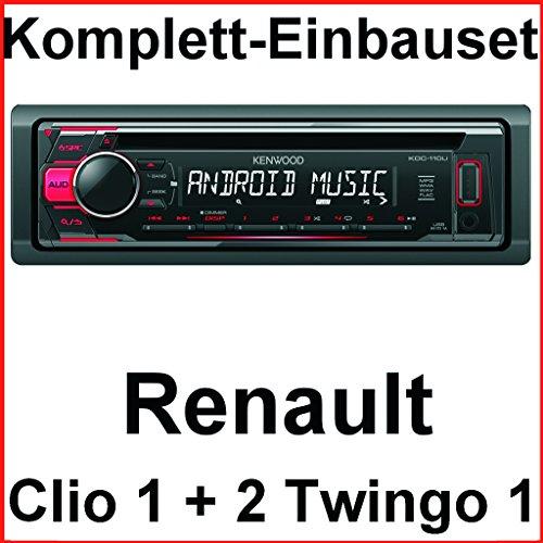 Komplett-Set Renault Clio 1 2 Twingo 1 KDC-110UR Autoradio USB FLAC MP3 CD
