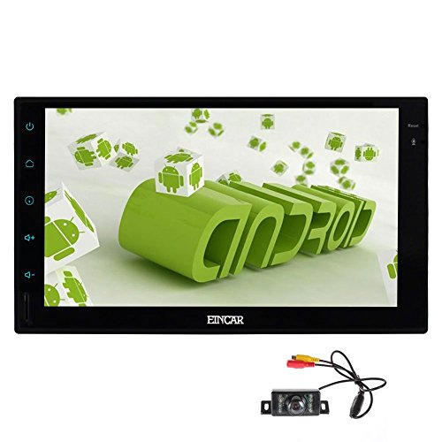 EinCar 7 Zoll 2 Din Head Unit Android 6.0 Quad-Core-RAM 1G ROM 16G GPS-Navigations-Autoradio Audio Radio 1080P Video Player Eingebautes Wifi Bluetooth FM / AM RDS SWC External Mic + Back-Kamera
