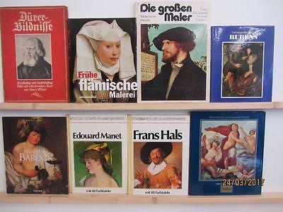 24 Bücher Bildbände Bildmappen Maler Malerei Gemälde Künstler