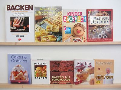 35 Bücher Backen Torten Kekse Gebäck Muffins Brot backen Blechkuchen