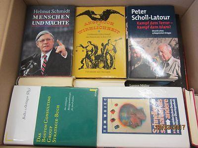 41 Bücher Sachbücher Wissenschaft Wirtschaft Politik Zeitgeschichte Paket 1