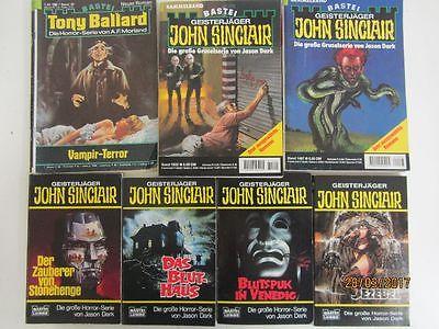 75 Taschenbücher Romanhefte Grusel Horror John Sinclair Geisterjäger u.a.