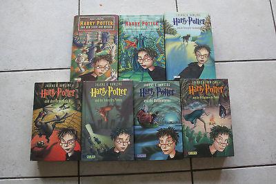 Harry Potter Band 1-7 komplette Reihe, gebundene Ausgabe, Carlsen Verlag
