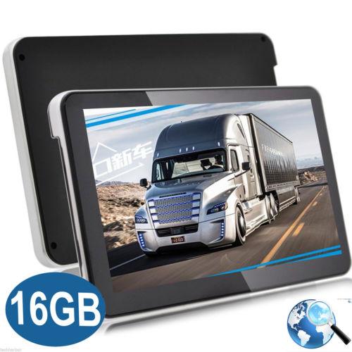 7 Zoll LKW Truck Bus GPS Navigationsgerät Europa Navi MP4 Navigation Karten 16GB
