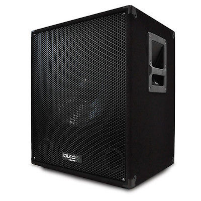 AKTIVER DJ PA 38CM SUBWOOFER DISCO PARTY BASS BOX 800W BI AMP SUB LAUTSPRECHER