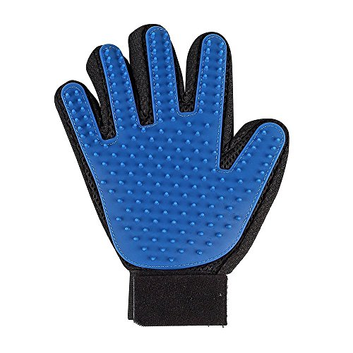 Auskio True Touch Handschuh Pet/Katzebürste/Fellpflege Handschuh/Katzen Handschuh/Hunde Handschuh/Enthaarungs-Bürste für Hunde&Katzen mit Kurz -bis Mittelhaar