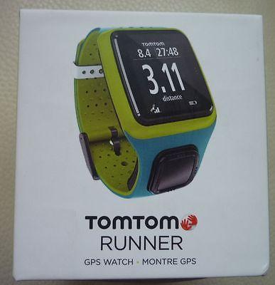 TOMTOM Runner Multisport GPS Fitnessuhr 8RS00 türkis/grün OVP