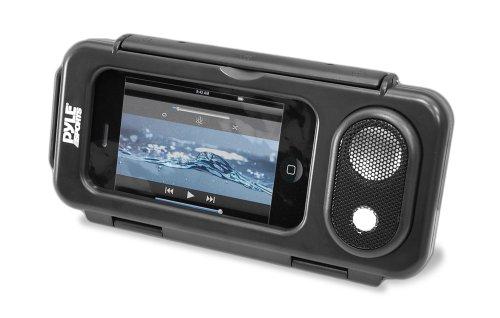 Pyle Surf Sound Play Universelle wasserdichte iPod/iPhone/MP3-Player/Lautsprecher und Hülle, Schwarz, PWPS63BK