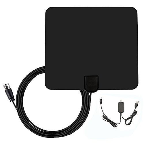DVB-T Antenne, HDTV Fernseher-Antenne, DVB-T / DVB-T2 Digitale Antenne HDTV 1080p Fernseher Antenne Zimmerantenne mit 50 dB Verstärker & 10 Fuß Koaxial kabel Verstärker Signal für Ultra-Dünne, Digitale TV Tuner