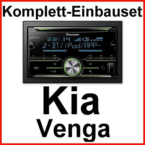 Komplett-Set Kia Venga Pioneer FH-X730BT Autoradio mit USB MP3 AUX und Bluetooth Freisprecheinrichtung