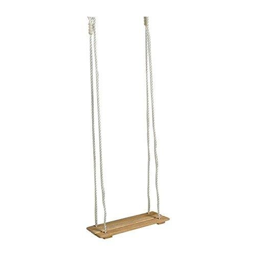 Brettschaukel aus Holz, für drinnen und draußen geeignet, höhenverstellbar und belastbar bis 75 kg, Schaukelspaß für Klein und Groß