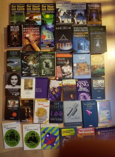 Kiste Karton Sammlung 38 Bücher Krimi Fantasy Horror Sach Hohlbein