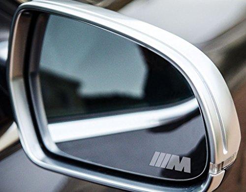 2 x BMW M Sport Small Symbol Spiegelaufkleber aus Milchglasfolie, Aufkleber aus Frost Folie, UV & waschanlagenfest, Milchglas, Frost, Aufkleber,Sticker für Spiegel, Aussenspiegel, Außenspiegel, von Myrockshirt