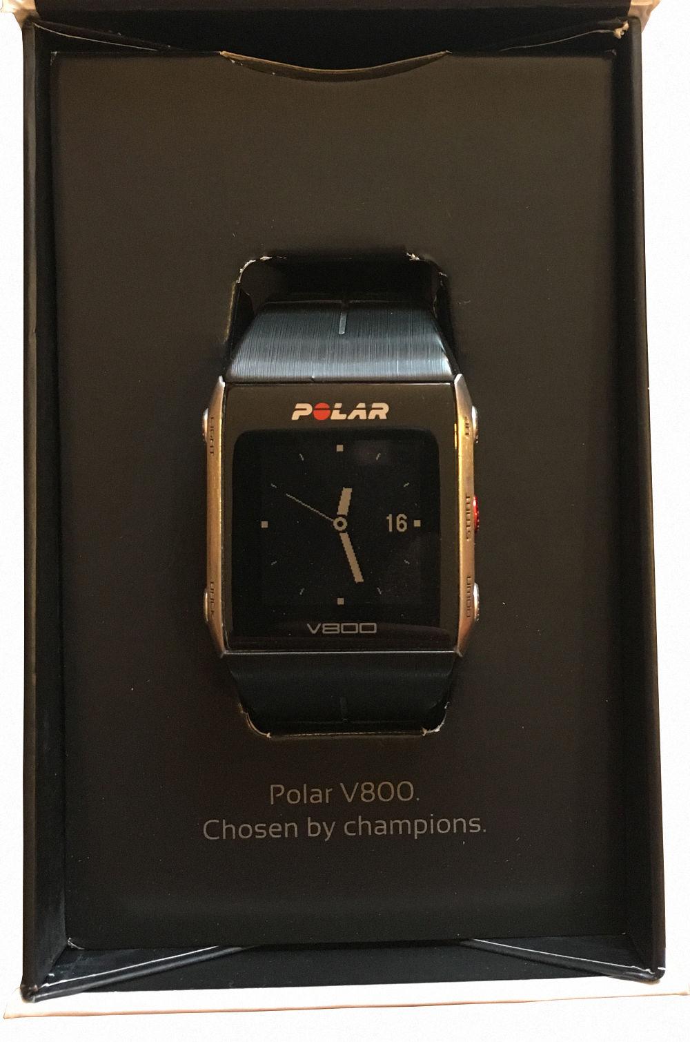 Polar V800 GPS Sportuhr Schwarz HR (inkl. Pulsgurt H7)