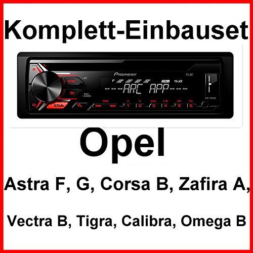 Komplett-Set Opel Astra F G Corsa B Zafira A DEH-1900UB Autoradio CD USB MP3 WMA
