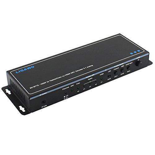 Ligawo 6518775 Audio und HDMI ARC Extractor/Decoder zu analog 2.0/5.1 schwarz